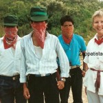 Grimes with Zapatistas in Chiapas, Mexico